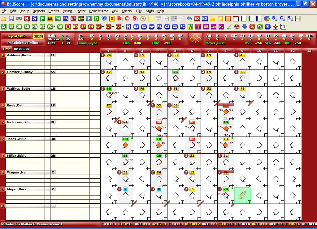 BallStat/BallScore Screen shot