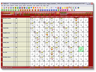Baseball stats scorekeeping software